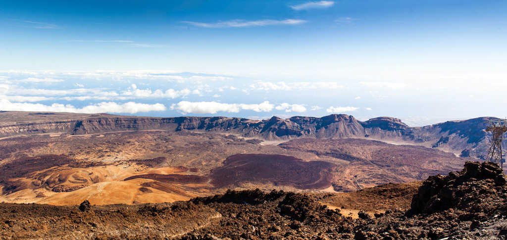 Teide Crater Tenerife with La Gomera in the background