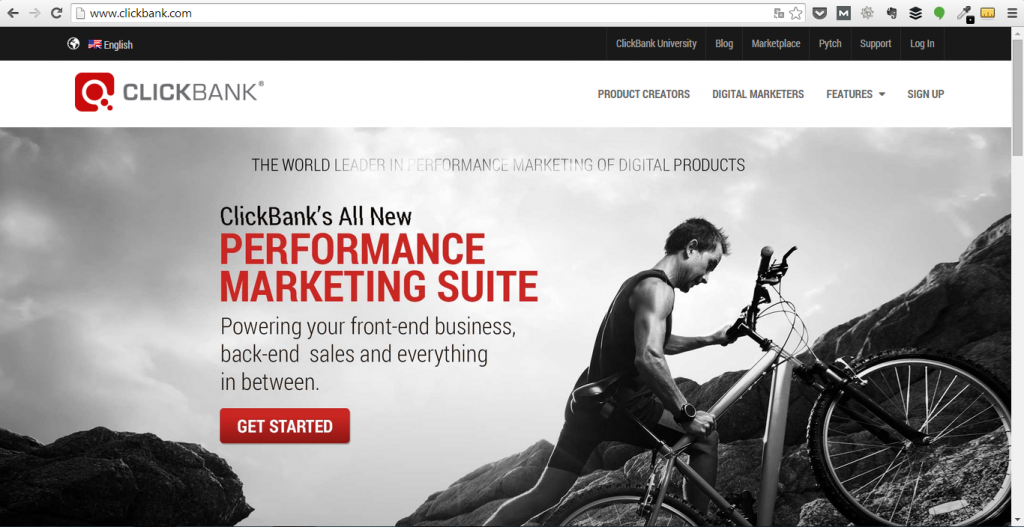 Screenshot: ClickBank's All New Performance Marketing Suite