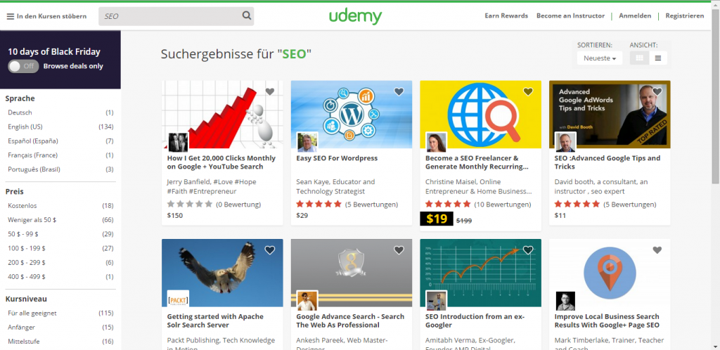 Easy money online with Udemy