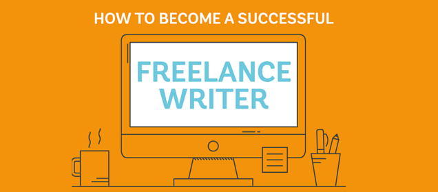 infographic about how to become a successful freelance writer