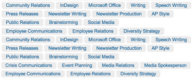 linkedin keywords