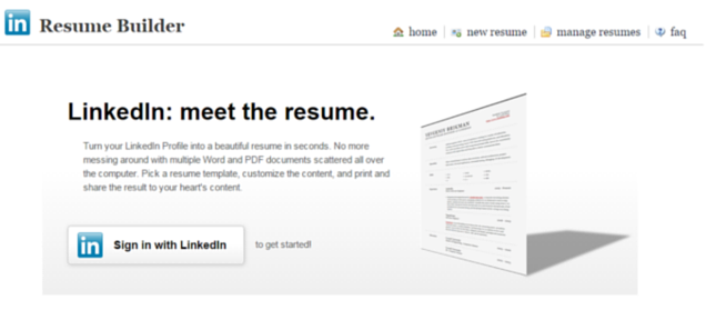 resume with your linkedin profile