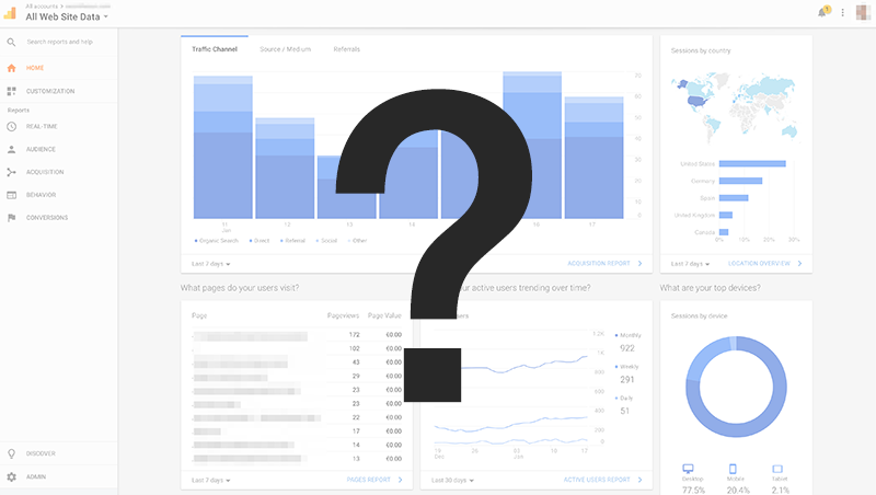 How to Set Up Google Analytics Question Mark