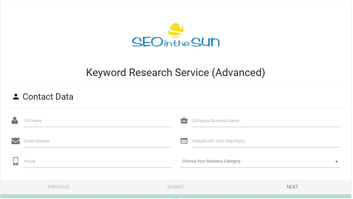 Competitor Keyword Research Form