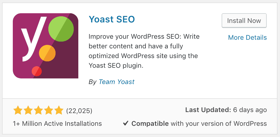 Yoast SEO Plugin Installation