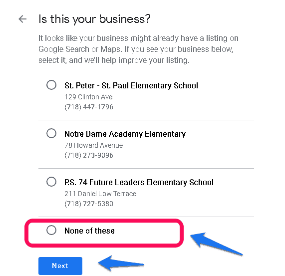 Google My Business Step 3