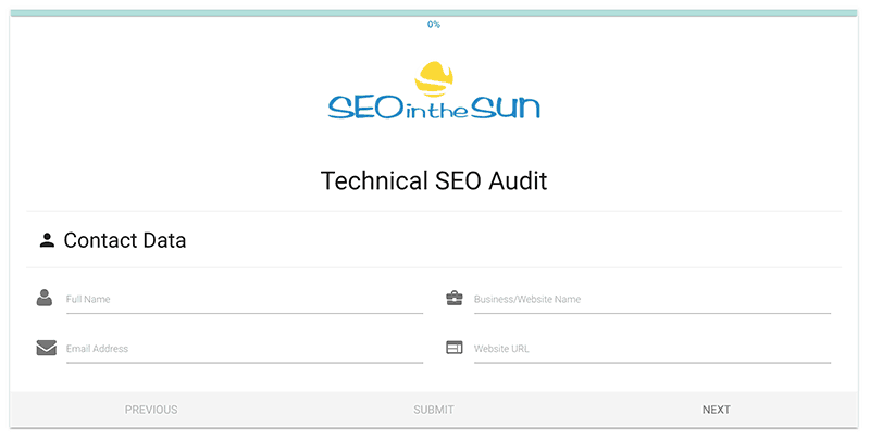Technical SEO Audit Submission Form